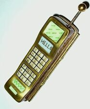 "LIMOGES BOX - CELL PHONE & MOVABLE ANTENNA - ""HELLO"" - MUSICAL NOTES INSIDE"