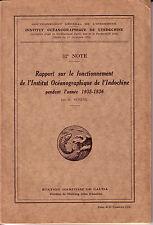 Rapport sur le fonctionnement de l'Institut Océanographique de l'Indochine 1935.