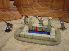 CUSTOM TERRAIN SCENERY PAINTED D & D MINIATURES EGYPTIAN ALTAR SKULL POOL