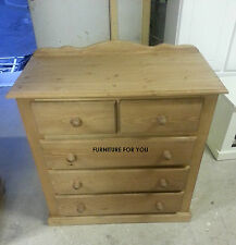 PINE FURNITURE CHESTER 3+2 DRAWER CHEST OF DRAWERS SOLID PINE NO FLAT PACKS