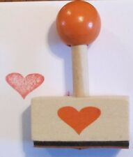 Heart Retro Wooden Rubber Stamp - Party Gift Craft DIY Wedding Hobby Card