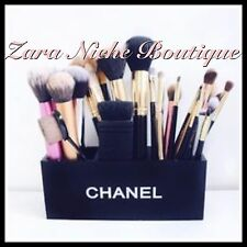 CHANEL MAKE UP BRUSHES LIPSTICK GIFT BLACK VANITY COSMETIC HOLDER BOX STORAGE UK