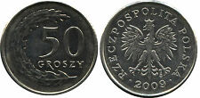 Polen Poland  coin 50 groszy grosz 2009 UNC  - Mint condition