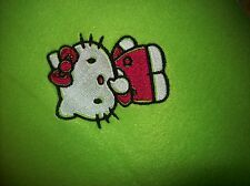 Green Hello Kitty baby toddler fleece 36x29   blanket free personalized