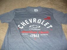 Chevrolet Mens Chevy Truck Car USA American Flag Gray GM T-Shirt Size 2XL