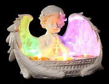 Engel Teelichthalter mit LED Beleuchtung - Figur Cherub Putte Kerzenhalter