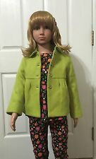JANIE AND JACK CITY MUSEUM GIRLS GREEN COAT JACKET 2-3 2T 3T