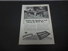 1946 Massey-Harris Tractor Co. Racine WI Print Ad Farm Equipment Forage Clipper