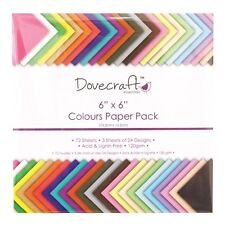 "6 x 6 ""Dovecraft SCRAPBOOKING CRAFT carta colori assortiti TRDCDP61 Decorazione"