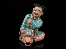 A 20th Century Chinese Polychrome Enamelled Porcelain Figure - Seal to Base.