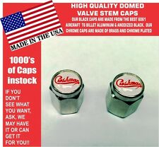 2 Domed Chrome Cushman Scooter Truckster Silver Eagle Valve Stem Caps UNIQUE!