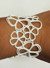 Authentic Batucada Paris Eco-Friendly White Sweet Flower Bracelet Brand New