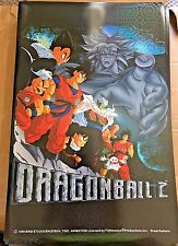 "Dragon Ball Z DBZ Poster HOLO Foil 1999 VTG RARE 34"" x 22"" NEW Old Stock BROLY"