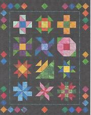 Midnight Posies Block of the Month quilt pattern by Morning Glory Quilt Designs