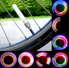 2pcs Bike Bicycle Wheel Tire Valve Spoke 32 changes Neon Cap 5 LED Lights Lamp