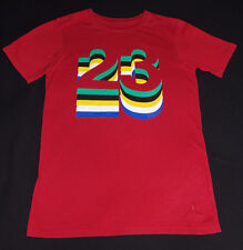 Michael Jordan 23 Red Tee Green Black Yellow White Blue Small NBA S MJ