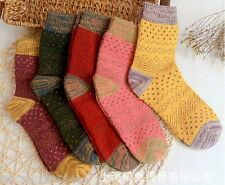 4 Pairs New Soft & Comfortable Warm Women Wool Cashmere Socks High Quality SALE