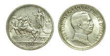 pci2598) Vittorio Emanuele III (1900-1943) - 2 Lire Quadriga Briosa 1914 TONED