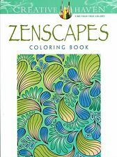 Creative Haven Zenscapes Coloring Book- Jessica Mazurkiewicz (2015, Paperback)