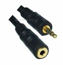 GOLD 3m 10ft Stereo Speaker Extension Cable Lead Mp3 or Ipod Headphone extender