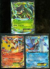 Pokemon LOT of 3 XY PROMOS:  SCEPTILE XY53, BLAZIKEN XY54, SWAMPERT XY55 - MINT