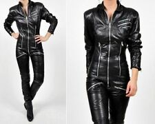 WOMEN JUMPSUIT ROMPERS GENUINE LAMBSKIN REAL LEATHER JUMPSUIT CATSUIT GLN 46
