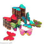 50pcs 2 Holes Mixed Butterfly Wooden Buttons Fit Sewing and Scrapbook 28x21mm