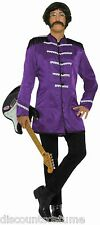 60's BRITISH EXPLOSION PURPLE SGT PEPPER JACKET BEATLES ADULT HALLOWEEN COSTUME