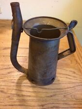 Vintage HUFFMAN Oil Can with Swing Spout Thumb Release Half Gallon USA N202