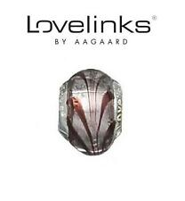 Genuine LOVELINKS 925 sterling silver River Current Plum Murano Charm Bead