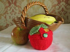 Red Hand Knitted Apple Cosy - Best Teacher, End of Year Present, Basket
