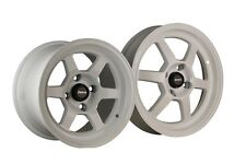 TRAKLITE LAUNCH DRAG WHEELS WHITE 13X8 4X100 +20 PAIR