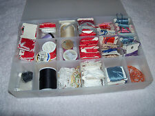 Lot of sewing notions in case embroidery thread etc