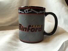 BINFORD TOOLS COFFEE MUG BLACK CUP TOOL TIME HOME IMPROVEMENT TV SHOW #P42