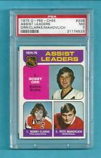 RARE! 1975-76 OPC 209 Bobby Orr NHL Assists Leader! PSA 7 NM! ONLY 13 PSA HIGHER