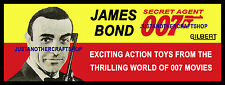 Gilbert Toys James Bond 1965 Large Size Poster Advert Shop Display Sign Leaflet