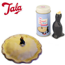 Traditional TALA Ceramic Pie Bird in TIN BOX Baking Pressure Release Funnel Bake