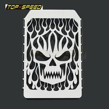 Skull Flame Radiator Grille Cover Protector For Kawasaki Vulcan VN 1500 Steel