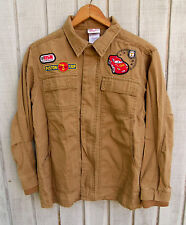 Disney Store Cars Long Sleeve Shirt Crew Jacket w/ Patches Children's Size Large
