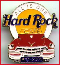 "Hard Rock Cafe RIO DE JANEIRO 2000 Red Cadillac HRC Logo PIN ""ALL IS ONE"" #7933"