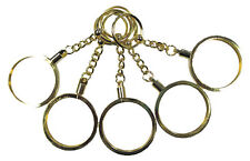 Key Chain 5 Gold Color Casino Poker CHIP HOLDERS NEW Brass FREE Shipping *