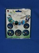 Cousin Celeste Blue Bracelet Kit Charm Beads Beading Jewelry Turtle Starfish NEW