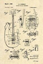 Official Mosrite Mark 1 Guitar Patent Art Print- Vintage Semie Moseley Bass -465