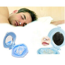 Anti Silicone Nose Clip Stop Snoring Snore Sleep Device Stopper With Shell Case