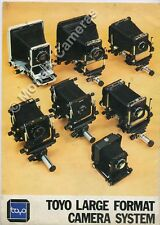 Toyo 5x4 8x10 Camera System Poster + 45E Brochure More Large Format Books Listed