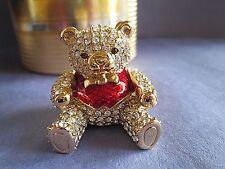 Precious Bear 1998 Estee Lauder Beautiful Solid Perfume Crystal Mint in Box