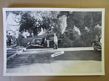 """12 By 18"""" Black & White PICTURE Ford 1940 Sedan - crushed by fallen tree"""