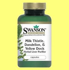 Milk Thistle, Dandelion & Yellow Dock, Beet Root - Liver Purifier - 120 capsules
