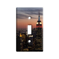 New York City Skyline at Night - Empire State - Wall Light Switch Plate Cover