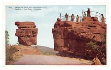 COLORADO - Balanced & Steamboat Rocks - Garden of the Gods - old USA postcard